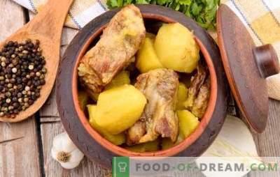 Kött med grönsaker i krukor - vi lagar mat med nöje och hälsa. Köttrecept med potatisgrönsaker