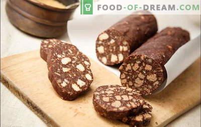 Salsiccia dai biscotti - un gusto indimenticabile! Salsiccia dolce di biscotti con latte condensato, ricotta, noci, frutta secca
