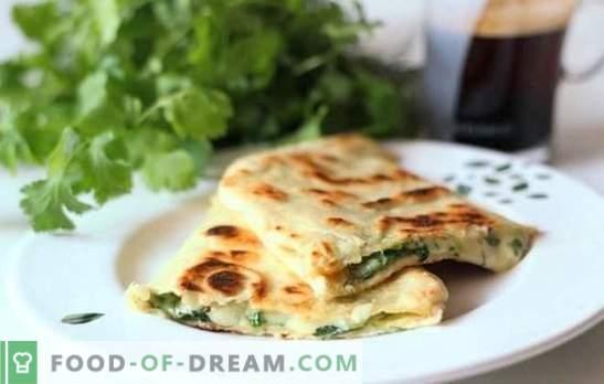 Pita mit Käse in einer Pfanne Pfannkuchen! Rezepte verschiedener Füllungen für gebratene Pita mit Käse in einer Pfanne