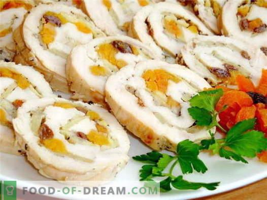 Kycklingrull - de bästa recepten. Hur till rätt och välsmakande kok kycklingrulle.