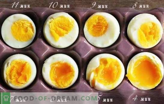 Hur man lagar mjukkokta ägg, kokt i en väska, pocherad ägg. Hur mycket att koka ägg efter kokande vatten