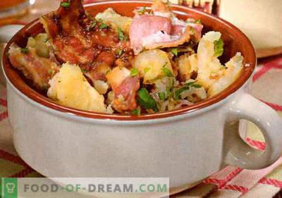 Tysk sallad - ett urval av de bästa recepten. Hur rätt och välsmakande kock tyska sallad.