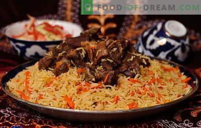 Echte Oezbeekse plov - recepten en kookgeheimen. Hoe Oezbeekse pilaf van lamsvlees, kip, met gedroogde vruchten