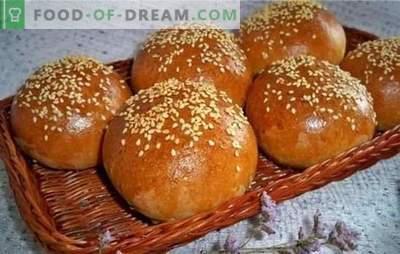 Lush rolls recept: bakning smälter bara i munnen! Recept för frodiga rullar med vallmofrön, torkade frukter, bär och nötter