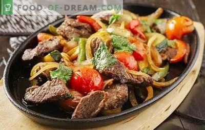 Fläsk med grönsaker i en panna - otroligt enkelt, overkligt gott! Tricks av matlagning och recept av fläsk med grönsaker i en panna