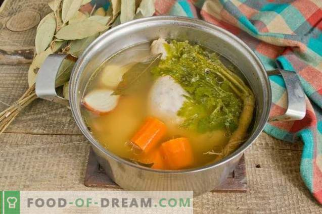 Chicken chicken broth - rich and aromatic