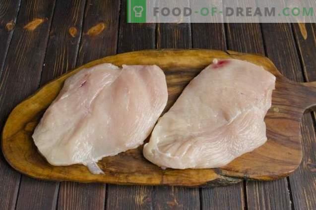 Пилешко месо в френски стил с шампиони и картофи