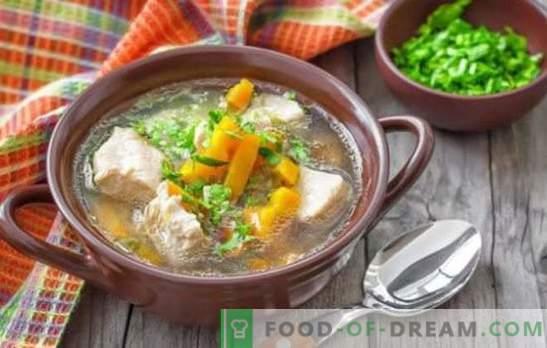 Fläsksoppa med potatis - enkla och doftande recept. Hur man lagar rik soppa för fläsksoppa med potatis